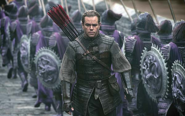 "Matt Damon stars as William Garin in ""The Great Wall."" Legendary Pictures and Universal Pictures photo via AP"