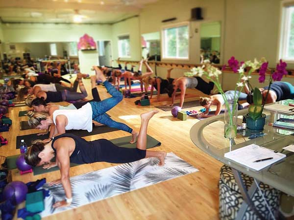 Infusion Barre and Yoga studio in Paia mixes two forms of exercise for a unique workout.  Photo courtesy Infusion Barre and Yoga