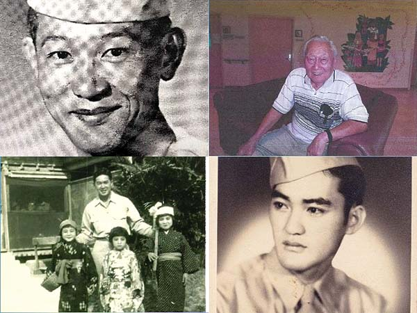 Tom Yamada (clockwise from top left), Masao Motooka, Robert Nishida and Harold Okumura will share stories of their assignments during WWII.
