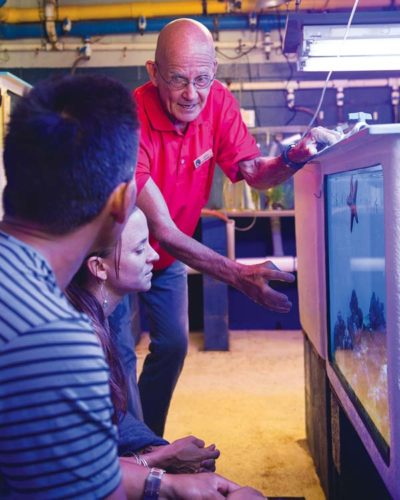 Driven by his passion for corals and marine life, John Gorman helped open Maui Ocean Center in 1998 and brings a lifetime of experience working with marine life from around the world.   Maui Ocean Center photo