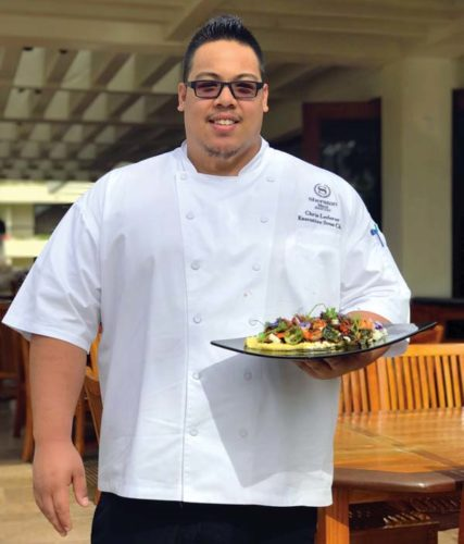 Sheraton Maui Resort & Spa's Executive Sous Chef Chris Lederer at the resort's Black Rock Kitchen. Sheraton Maui Resort & Spa photo
