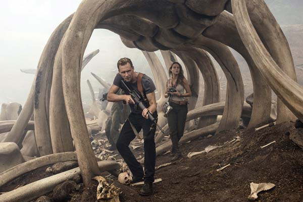 "Tom Hiddleston and Brie Larson star in ""Kong: Skull Island."" Warner Bros. Pictures photo via AP"