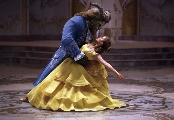 "Dan Stevens and Emma Watson star in ""Beauty and the Beast"". Disney photo via AP"