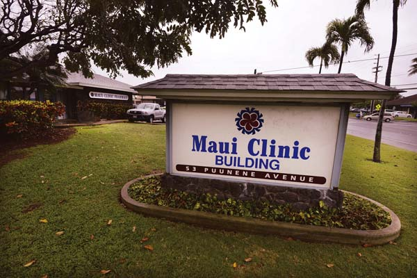 In January, Alexander & Baldwin sold the Maui Clinic building on Puunene Avenue to Oahu-based investment group Puunene Investors LLC. The new owner plans to turn the building, which has long housed a medical clinic and doctors' offices, into retail space.   The Maui News / MATTHEW THAYER photo