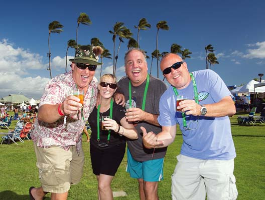 Revelers at a previous Maui Brewers Festival cheer to beer at the Maui Arts & Cultural Center in Kahului. -- AUBREY HORD photo