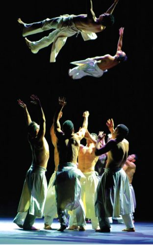 "Compagnie Herve Koubi's ""What the Day Owes to the Night."" Nelson Romero photo"
