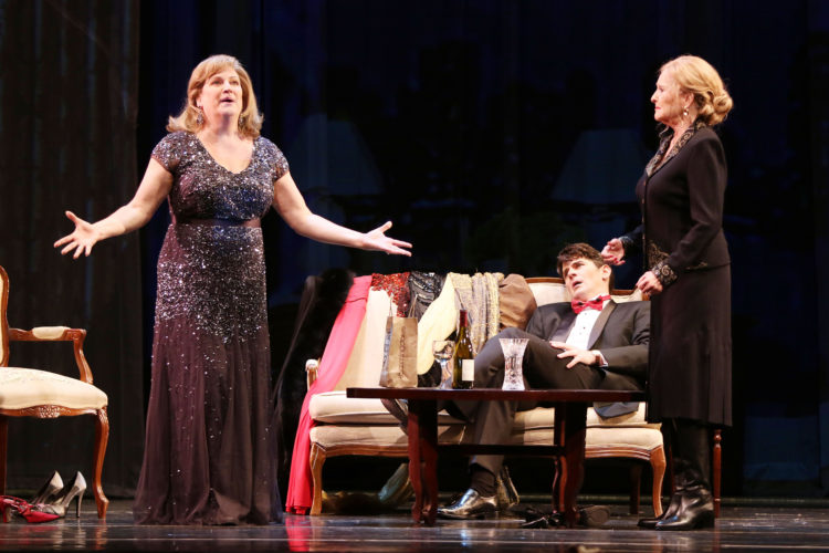 Starring (from left) Kristin Clayton, Keith Phares and Frederica von Stade. • Photo courtesy of Hawaii Opera Theatre
