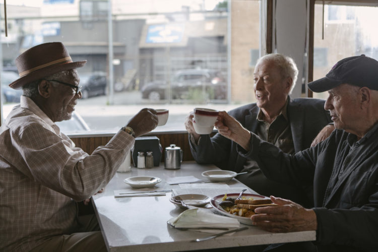 "Morgan Freeman, Michael Caine and Alan Arkin star in ""Going in Style"" • Warner Bros. Pictures photo via AP"