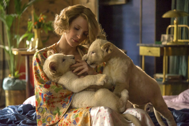 "Jessica Chastain stars in ""The Zookeeper's Wife"" • Focus Features photo via AP"
