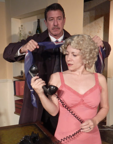 """Jim Oxborrow and Marsi Smith appear in ProArts Inc.'s production of """"Dial M for Murder."""" Performances are at 7:30 p.m. Thursdays through Saturdays and 3 p.m. Sundays beginning Friday through April 30 (no performance on Sunday) at ProArts Playhouse in Kihei. Tickets are $26 and available by phone at 463-6550 or online at proartsmaui.com. * Richard Vetterli photo"""