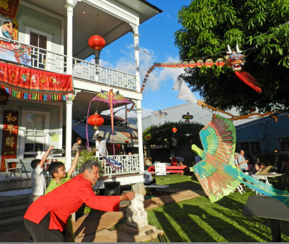 Chinese Kite Festival at Wo Hing Museum & Cookhouse in Lahaina; photo courtesy Lahaina Restoration Foundation.