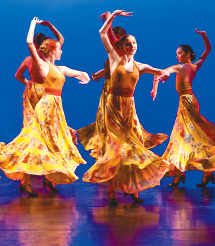 """The Seabury Hall Dance Ensemble dazzles in """"Spanish Nights"""" as part of the Seabury Hall Performing Arts' Dance Showcase 2017 in the 'A'ali'ikuhonua Creative Arts Center on the school campus in Makawao at 7 p.m. Friday and Saturday and 3 p.m. Sunday. The seats are $12 for adults, $10 for seniors and $5 for students. For tickets, visit www.seaburyhall.org. Jack Grace photo"""