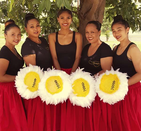 Skylee Kauha'aha'a, Caprice Sambrano, Jolene Villanueva, Dawn Ka'alakea and Jaime Felipe will dance for Pukalani Hula Hale.