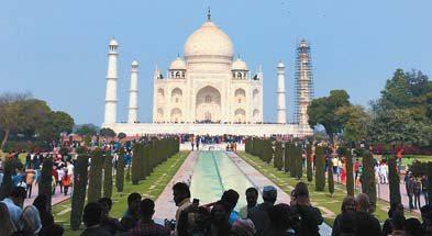 India's Taj Mahal in Agra -- Photo via AP