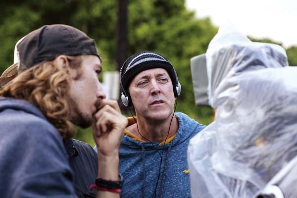 "Reece Pottorff, assistant cameraman, and Brian Kohne, writer/director, are shown on the set of ""Kuleana."" The locally produced mystery-drama set on Maui in the early years of statehood will be shown at the Maui Film Festival at Wailea on June 23. -- JACK GRACE photo"