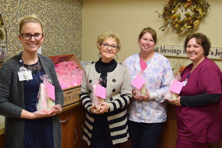 UnityPoint Health — Trinity Cancer Center received a donation of $3,392 in Mary Kay skin care products from Linda Hanson, local independent beauty consultant with Mary Kay Cosmetics. Linda was able to donate the cosmetics along with the generous help of 32 of her customers on Dec. 15. There is enough product to be given to 106 patients who are receiving treatment for cancer. Pictured are Cancer Center Manager Christen Sewell, Linda Hanson, Gina Grossnickle and Maurica Almond.