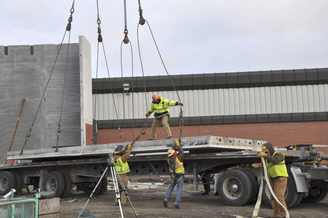 building the exterior of the fort dodge senior high new auxiliary gym. Cars Review. Best American Auto & Cars Review