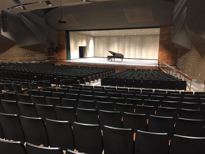 -Photo courtesy  of John Aboud  A $140,000 piano is only one of the major amenities at the new Ed and Betty Wilcox Performing Arts Center in Algona.