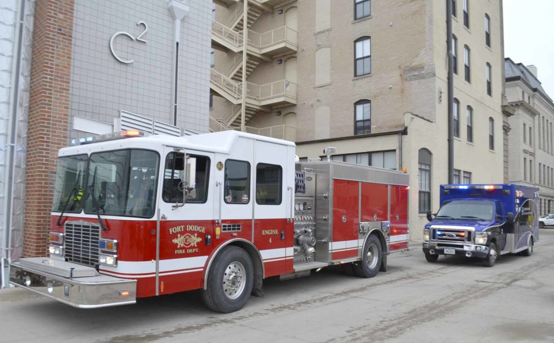 messenger photo by bill sheaa fort dodge fire truck and an ambulance. Cars Review. Best American Auto & Cars Review