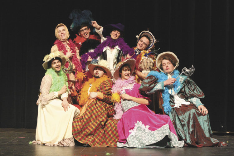 """Cast members are gearing up for the upcoming production of """"Scarlet Pimpernel."""""""