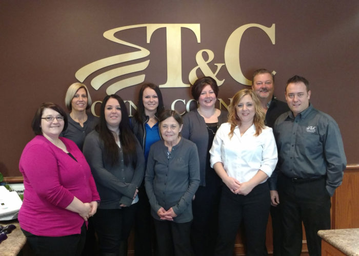 The IMT Group, a leading provider of personal and commercial insurance products in the Midwest, recently announced its list of 2017 Gem Agencies, distinguishing Town & Country Insurance as one of the qualifying recipients. Pictured from left are Heather O'Brien, Laura Schiek, Lisa Nelson, Samantha Johnson, Sandy Chase, Sandy McCarville, Aly Nichols, Bennett O'Connor and Tony Bacon.