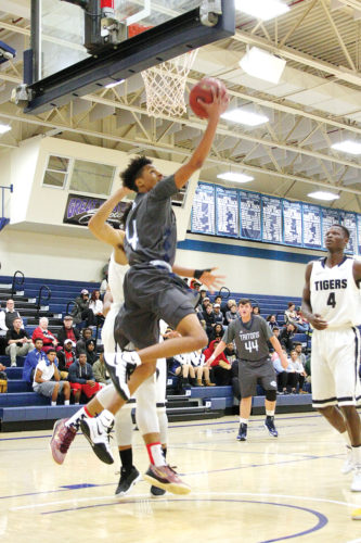 —Messenger file photo  Iowa Central's Tray Croft, shown here, had 30 points inside Hodges Fieldhouse as the Tritons upset No. 9 Kirkwood on Saturday.