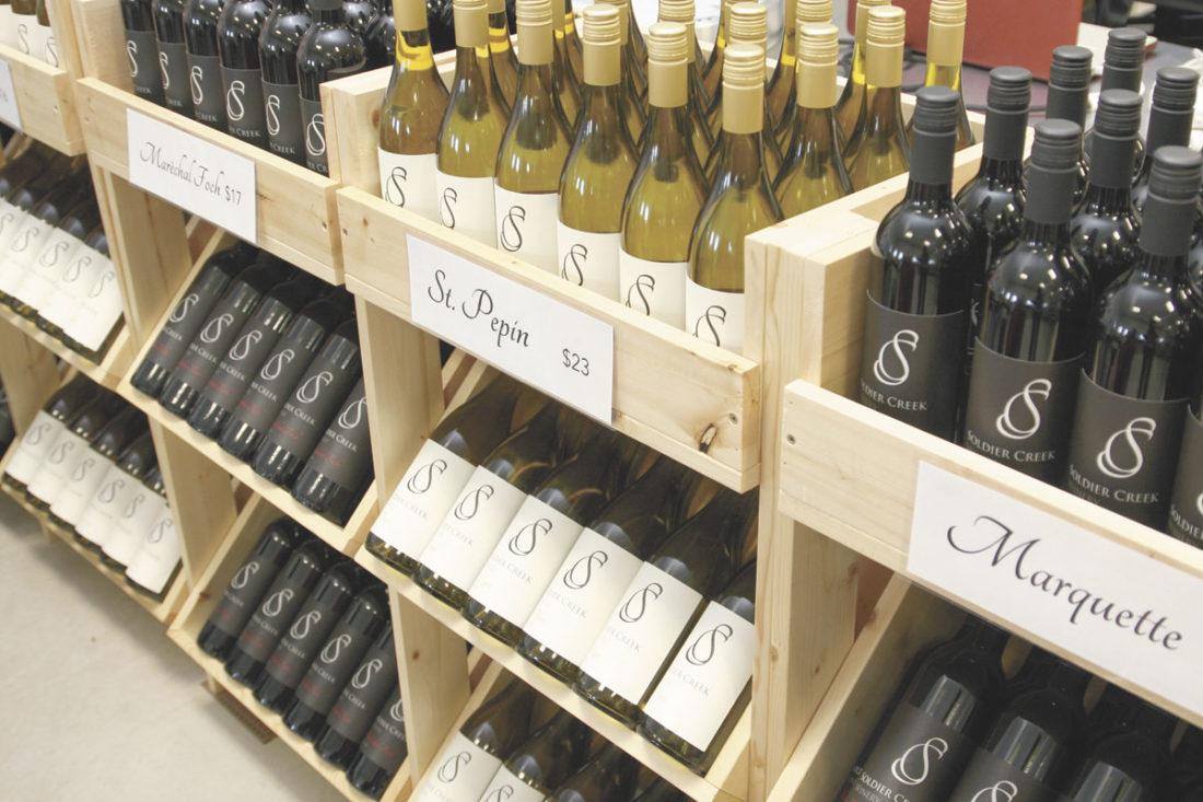 -Photo by Dawn Bliss  Iowa wine is gaining in popularity.