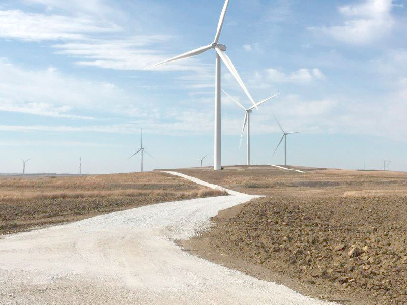 -Submitted photo  MidAmerican Energy recently completed work on its new wind farm in Ida County. The wind farm is located near Ida Grove.
