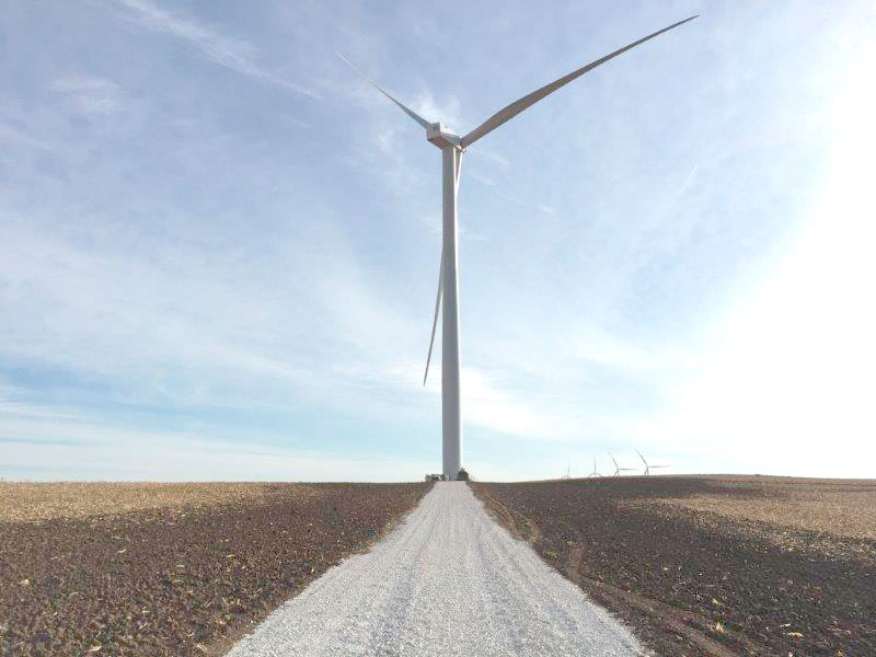 -Submitted photo  The access road leads to a new wind turbine at MidAmerican Energy's Ida Grove wind project. The wind farm has 134 turbines.