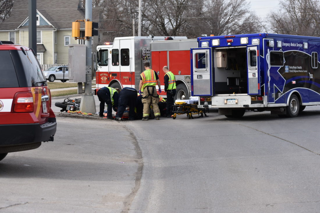 One man was seriously injured Sunday afternoon in a motorcycle versus car crash.