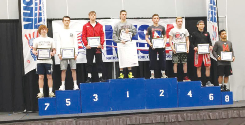 —Submitted photo  Fort Dodge's Drew Bennett, third from left, finished third at NHSCA nationals in Virginia Beach this past weekend.