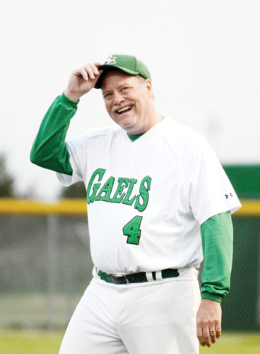Messenger photo by Britt Kudla  Joe Shanks, shown during a St. Edmond baseball game last summer, will serve as the school's athletic director through June 30. His 21-year tenure will come to an end at that point, according to the school.