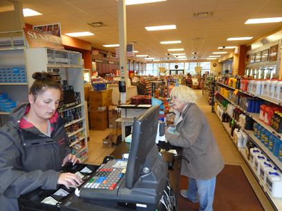 Vanessa Dietz/The Daily Mining Gazette The Pines Convenience Center in Baraga sells Seneca cigarettes. The brand will be replaced soon with name-brand cigarettes.
