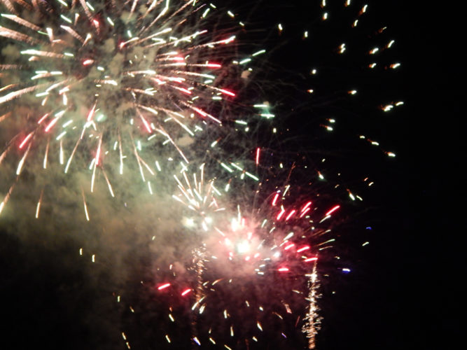 Vanessa Dietz/Daily Mining Gazette Ontonagon village put on a fireworks show Saturday evening as part of its annual Hometown Christmas celebration over the weekend.