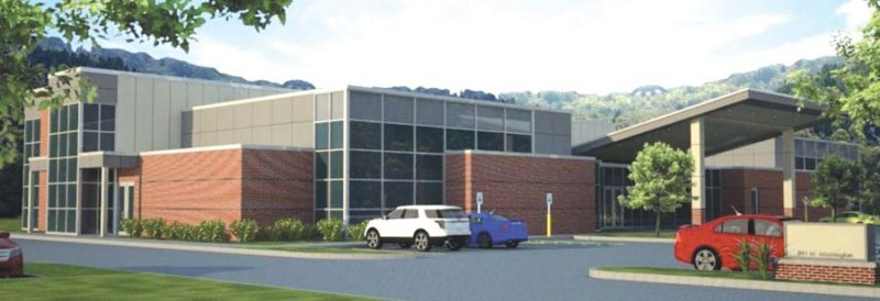 An artist's rendition of the planned sports complex in Marquette shows modern facility to be built on West Washington Street. (Image courtesy of UP Health System-Marquette)