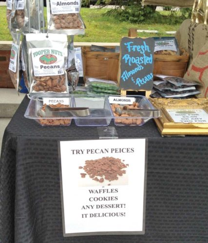 Fresh nuts are among the items available for purchase at the Marquette Farmers Market on a weekly basis. (Photo courtesy of the Marquette Downtown Development Authority)