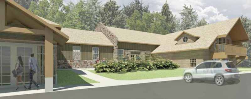 A plan is underway to repurpose the Northwoods Supper Club in Marquette Township as a new brewery focusing on farmhouse and barrel-aged style beers. An artist's rendering shows a possible redesign of the structure, which is located along Northwoods Road. (Graphic courtesy of Nick VanCourt and Marina Dupler)
