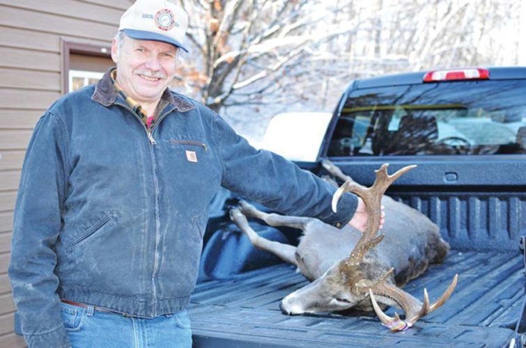 There are still some beautiful bucks out there. Bill Mattson of Marquette checked this 10-point buck in Monday at the Michigan Department of Natural Resources check station in Marquette. Mattson shot the buck in Marquette County during Friday's opening day of the muzzleloader deer hunting season, which lasts through Dec. 11. Mattson's 4-year-old buck weighed 206.4 pounds field dressed. (Michigan DNR photo)