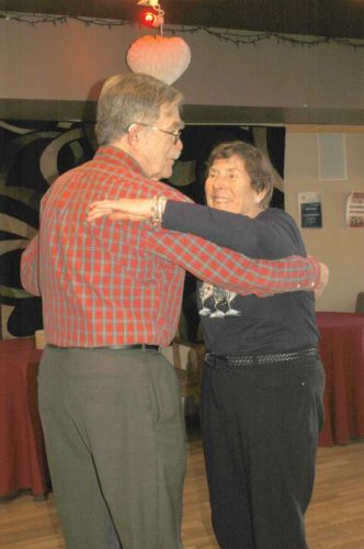 Boli and Milt Soderberg, of Marquette, try a few steps during a tango workshop Monday at the Dance Zone. The event was hosted by the Northern Center for Lifelong Learning. (Journal photo by Christie Bleck)