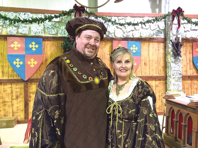Submitted Photo  Eric Furuseth and Pamela Hopkins-Cornwell will reprise their roles as lord and lady of the manor at the Renaissance Christmas Feast.