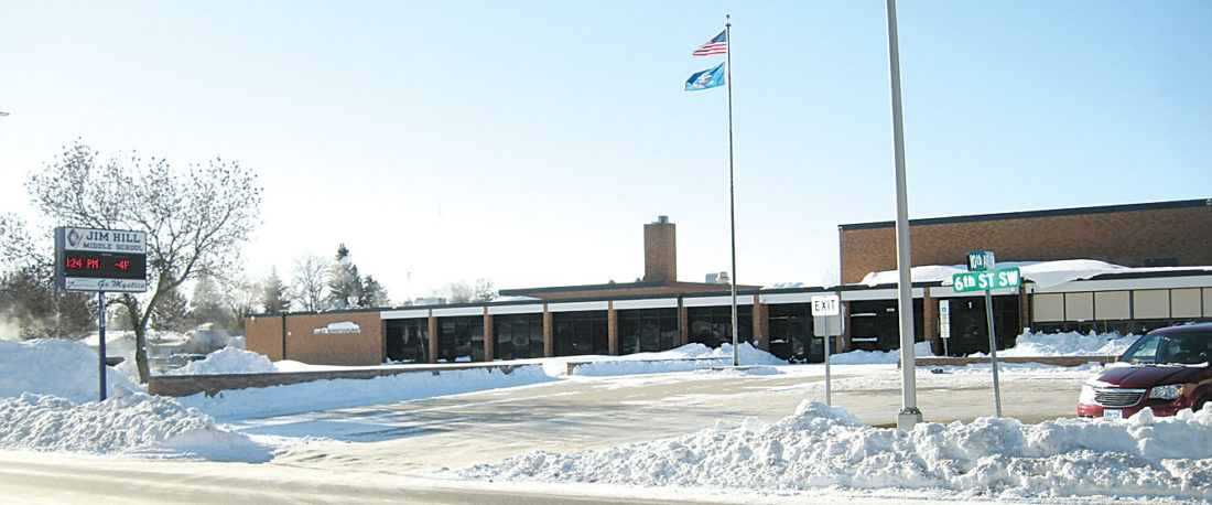 Andrea Johnson/MDN Jim Hill Middle School, pictured, is projected to have 946 students in the 2020-21 school year. It was built to comfortably house 720 students. School board members may discuss asking voters to approve another bond issue to address overcrowding at the middle schools and high school campuses.