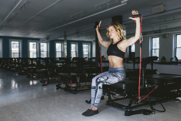 This photo provided Mischief Media Group|MMG and SLT shows fitness trainer Bethany Meyers. Models love her pilates, cardio and strength-training fusion classes at NYC's SLT studios. The former dancer has a mega Instagram following thanks to her whimsical dance moves, motivating ab sessions and enviable pixie cut. (SLT/Mischief Media Group via AP)
