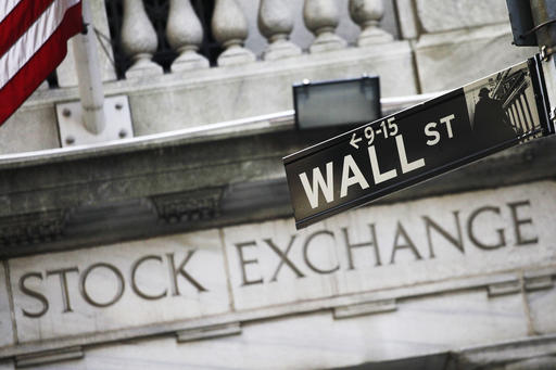 This photo, shows a Wall Street street sign outside the New York Stock Exchange. The major U.S. stock indexes edged higher in early trading Wednesday, as investors looked ahead to the start of corporate earnings reports later in the week. Energy stocks led the gainers as crude oil prices headed higher, while phone and real estate stocks lagged the most. (AP Photo/Mark Lennihan, File)