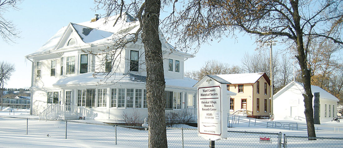 Andrea Johnson/MDN The Ward County Historical Society Pioneer Village Museum on the North Dakota State Fairgrounds is pictured Tuesday morning. A trial over the location of the museum has been postponed to January 2018.