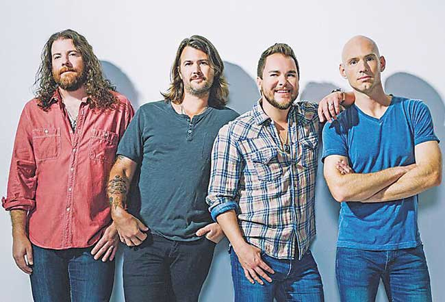 """Submitted Photo With nearly 20 years of country classics, the Eli Young Band will perform their newest smash hit """"Saltwater Gospel"""" at 4 Bears Casino and Lodge on Saturday."""