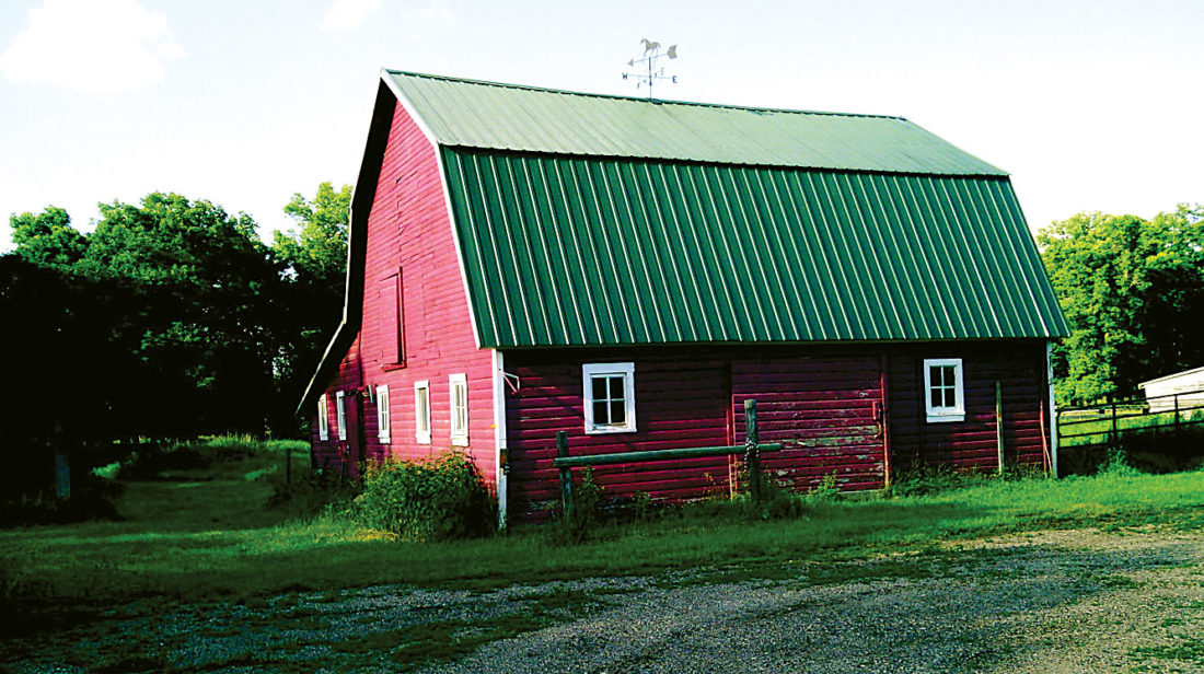 Submitted Photo This Ward County barn is among structures being considered for acquisition under the Souris River Joint Board's StARR program. The program is designed to reduce flood risk in rural areas.