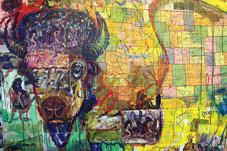 Submitted Art Visual artist Walter Piehl created this mixed media artwork for North Dakota's Gov. Doug Burgum and First Lady Kathryn Helgaas Burgum to commemorate his inauguration.