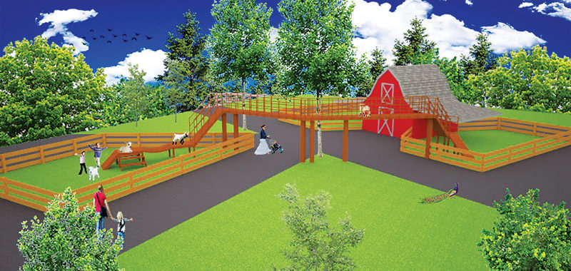 Submitted Art ¨This is a sketch of the Goat Bridge planned for the Children's Zoo in Minot's Roosevelt Park.
