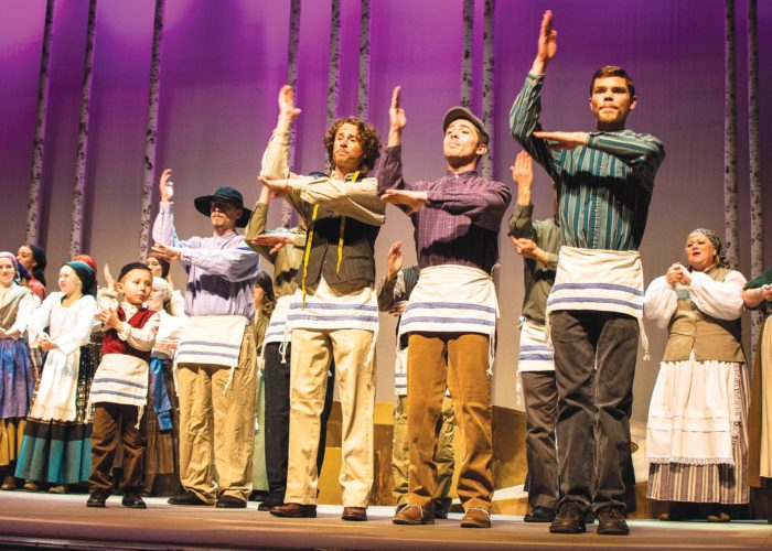"""Submitted Photo  Cast members of """"Fiddler on the Roof"""" rehearse a dance scene for tonight's performance."""
