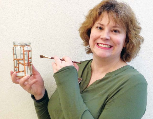 Submitted Photo  Pam Carswell, the Minot Public Library teen librarian, invites teenagers to create stained glass jars, today, at the Minot Public Library from 4-5 p.m.